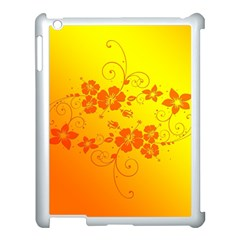 Flowers Floral Design Flora Yellow Apple Ipad 3/4 Case (white)