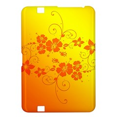 Flowers Floral Design Flora Yellow Kindle Fire Hd 8 9