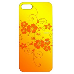 Flowers Floral Design Flora Yellow Apple Iphone 5 Hardshell Case With Stand