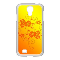 Flowers Floral Design Flora Yellow Samsung Galaxy S4 I9500/ I9505 Case (white)