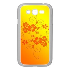 Flowers Floral Design Flora Yellow Samsung Galaxy Grand DUOS I9082 Case (White)