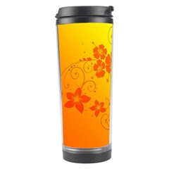 Flowers Floral Design Flora Yellow Travel Tumbler