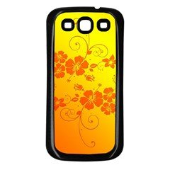 Flowers Floral Design Flora Yellow Samsung Galaxy S3 Back Case (black)
