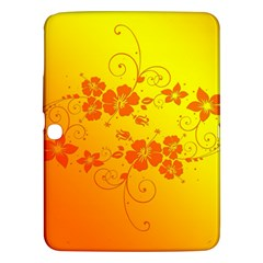 Flowers Floral Design Flora Yellow Samsung Galaxy Tab 3 (10 1 ) P5200 Hardshell Case