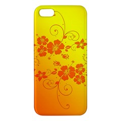 Flowers Floral Design Flora Yellow Iphone 5s/ Se Premium Hardshell Case