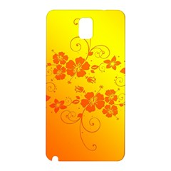 Flowers Floral Design Flora Yellow Samsung Galaxy Note 3 N9005 Hardshell Back Case