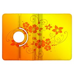 Flowers Floral Design Flora Yellow Kindle Fire Hdx Flip 360 Case