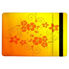 Flowers Floral Design Flora Yellow Ipad Air Flip