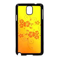 Flowers Floral Design Flora Yellow Samsung Galaxy Note 3 Neo Hardshell Case (Black)