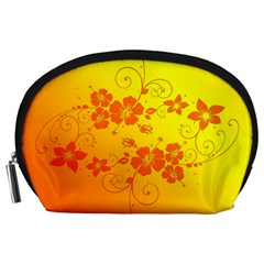 Flowers Floral Design Flora Yellow Accessory Pouches (large)