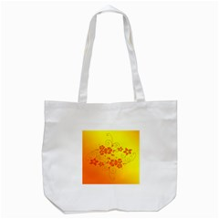 Flowers Floral Design Flora Yellow Tote Bag (white)