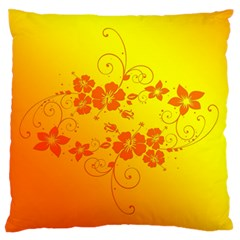 Flowers Floral Design Flora Yellow Standard Flano Cushion Case (one Side)