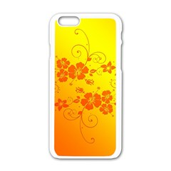 Flowers Floral Design Flora Yellow Apple Iphone 6/6s White Enamel Case