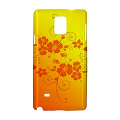 Flowers Floral Design Flora Yellow Samsung Galaxy Note 4 Hardshell Case