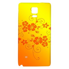 Flowers Floral Design Flora Yellow Galaxy Note 4 Back Case