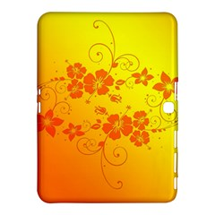 Flowers Floral Design Flora Yellow Samsung Galaxy Tab 4 (10 1 ) Hardshell Case