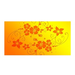 Flowers Floral Design Flora Yellow Satin Wrap