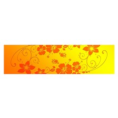 Flowers Floral Design Flora Yellow Satin Scarf (oblong)