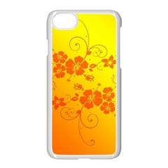 Flowers Floral Design Flora Yellow Apple Iphone 7 Seamless Case (white)