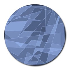Lines Shapes Pattern Web Creative Round Mousepads