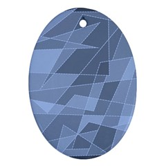 Lines Shapes Pattern Web Creative Ornament (oval)