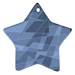 Lines Shapes Pattern Web Creative Ornament (star)
