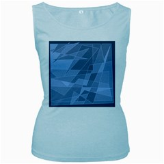 Lines Shapes Pattern Web Creative Women s Baby Blue Tank Top