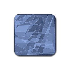 Lines Shapes Pattern Web Creative Rubber Square Coaster (4 pack)
