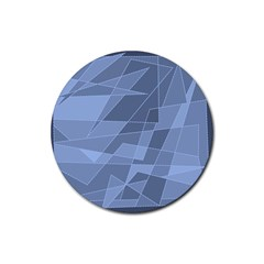 Lines Shapes Pattern Web Creative Rubber Round Coaster (4 pack)