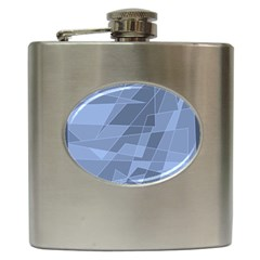 Lines Shapes Pattern Web Creative Hip Flask (6 Oz)