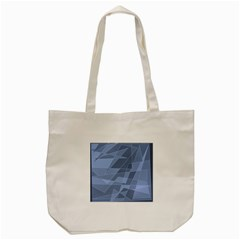 Lines Shapes Pattern Web Creative Tote Bag (cream)