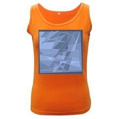 Lines Shapes Pattern Web Creative Women s Dark Tank Top