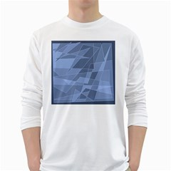 Lines Shapes Pattern Web Creative White Long Sleeve T Shirts