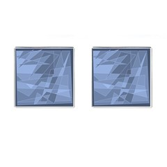Lines Shapes Pattern Web Creative Cufflinks (square)