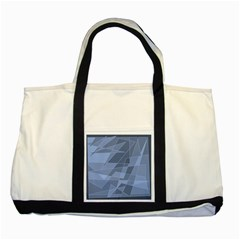 Lines Shapes Pattern Web Creative Two Tone Tote Bag