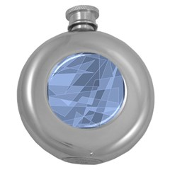 Lines Shapes Pattern Web Creative Round Hip Flask (5 Oz)