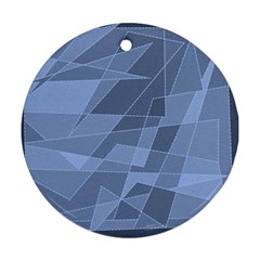 Lines Shapes Pattern Web Creative Round Ornament (two Sides)
