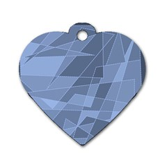 Lines Shapes Pattern Web Creative Dog Tag Heart (two Sides)