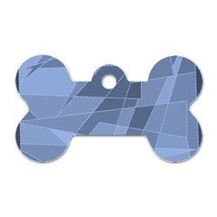 Lines Shapes Pattern Web Creative Dog Tag Bone (two Sides)