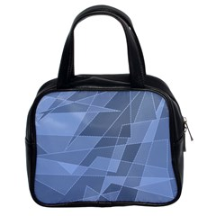 Lines Shapes Pattern Web Creative Classic Handbags (2 Sides)