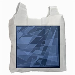 Lines Shapes Pattern Web Creative Recycle Bag (one Side)