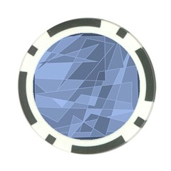 Lines Shapes Pattern Web Creative Poker Chip Card Guard (10 Pack)