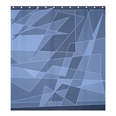 Lines Shapes Pattern Web Creative Shower Curtain 66  X 72  (large)