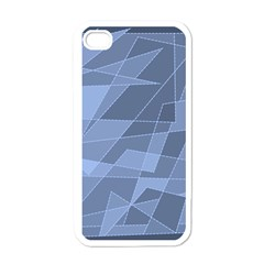 Lines Shapes Pattern Web Creative Apple Iphone 4 Case (white)