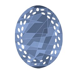 Lines Shapes Pattern Web Creative Oval Filigree Ornament (Two Sides)