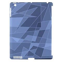 Lines Shapes Pattern Web Creative Apple iPad 3/4 Hardshell Case (Compatible with Smart Cover)
