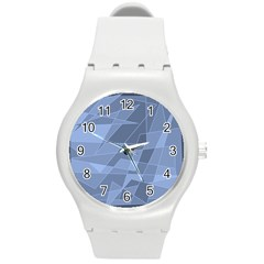 Lines Shapes Pattern Web Creative Round Plastic Sport Watch (m)