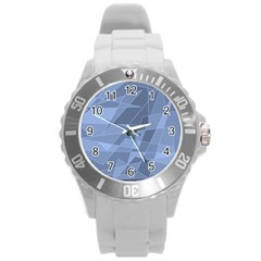 Lines Shapes Pattern Web Creative Round Plastic Sport Watch (l)