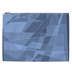 Lines Shapes Pattern Web Creative Cosmetic Bag (xxl)