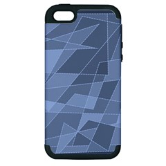 Lines Shapes Pattern Web Creative Apple iPhone 5 Hardshell Case (PC+Silicone)